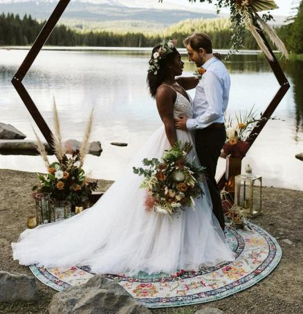 Trillium Lake Elopement; photo by Rachel Brookstein Photography