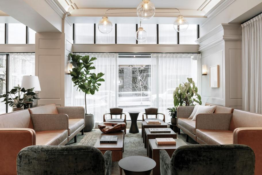 Modern and luxurious, the Woodlark in downtown Portland is a hip and  welcoming spot.