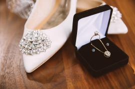 heirloom jewelry from the bride's great-grandmother and godmother