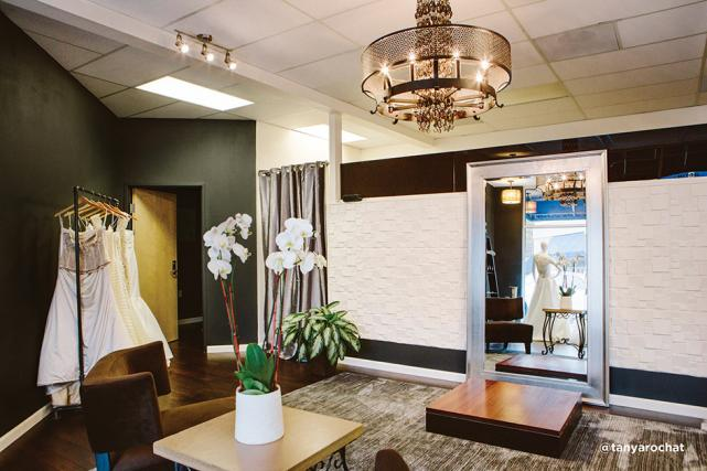 The newly relocated Divine Designs Bridal Boutique salon in Lake Oswego
