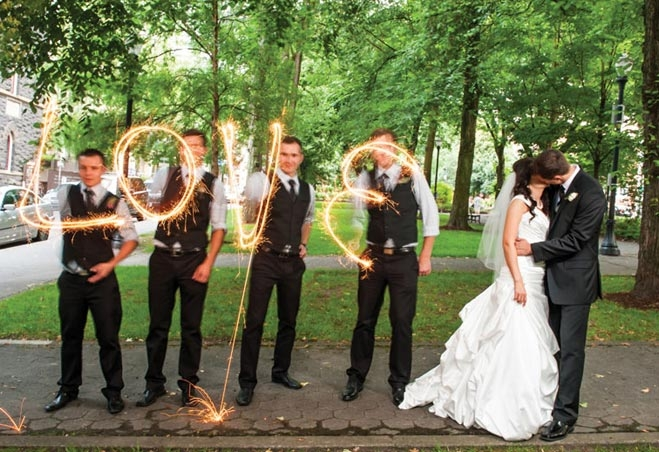 baby youre a firework wedding day sparklers