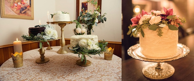 understated white wedding cakes floral accents