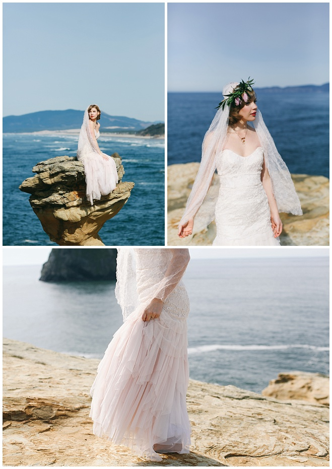 Cape Kiwanda Wedding Dress Inspiration Shoot By Love Lit Photography